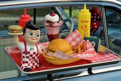 Vassoio del ` s Big Boy Diner Car Hop Window di Bob Fotografia Stock