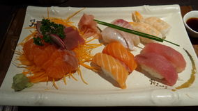 Vassoio del sashimi Immagini Stock Libere da Diritti