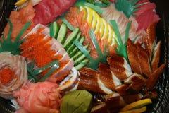 Vassoio del sashimi Immagini Stock