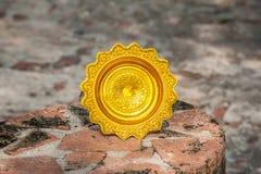 Vassoio dell'oro. Fotografia Stock