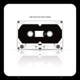 Vassoio della cassetta audio isolato su bianco royalty illustrazione gratis