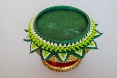 Vassoio della decorazione di regali di nozze tradizionali tailandesi Fotografie Stock