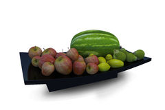 Vassoio della frutta Fotografia Stock Libera da Diritti