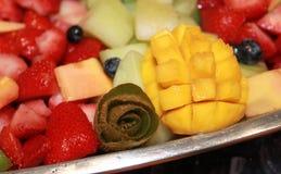 Vassoio della frutta di ricezione di antipasti Immagini Stock Libere da Diritti