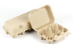 Vassoio di carta dell'uovo Immagini Stock