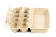 Vassoio di carta dell'uovo Fotografia Stock