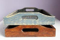 Vassoio di legno Immagine Stock Libera da Diritti