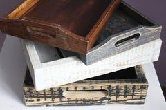 Vassoio di legno Fotografia Stock Libera da Diritti