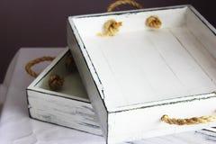Vassoio di legno Fotografie Stock
