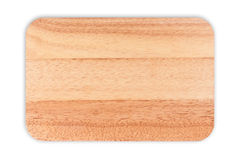 Vassoio di legno isolato su bianco fotografia stock libera da diritti