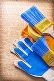 Vassoio di nastro della famiglia dei pennelli dei guanti di Wprking Immagini Stock