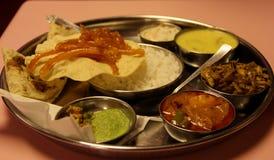 Vassoio di Thali del vegetariano fotografia stock