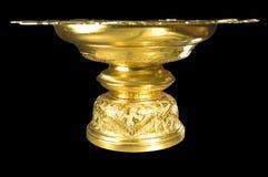 Vassoio dorato di stile tailandese Fotografia Stock Libera da Diritti