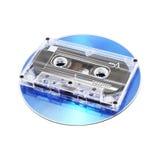 Vassoio e CD di nastro Fotografia Stock