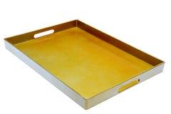 Vassoio isolato colore dorato Immagine Stock Libera da Diritti