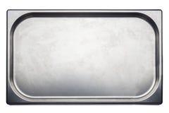 Vassoio medico dell'acciaio inossidabile su fondo bianco Fotografie Stock