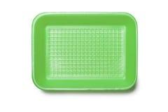 Vassoio verde della schiuma Fotografie Stock