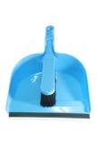 Vassoura azul Imagens de Stock Royalty Free