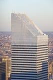 Vast antenne van de bouw van de Stadsgroep bij zonsondergang bovenop Rockefeller-Centrum, Bovenkant ï ¿ ½ wordt geschoten van Roc Royalty-vrije Stock Foto's