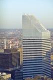 Vast antenne van de bouw van de Stadsgroep bij zonsondergang bovenop Rockefeller-Centrum, Bovenkant ï ¿ ½ wordt geschoten van Roc Royalty-vrije Stock Foto