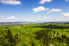 Vast and beautiful areas in Bavaria Royalty Free Stock Images