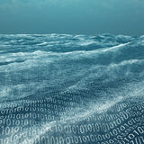 Vast binary code Sea stock illustration