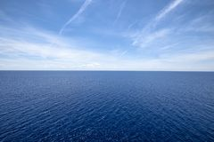 Water horizon royalty free stock photo