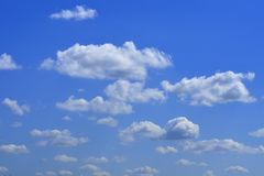 The vast blue sky and clouds sky.  stock images