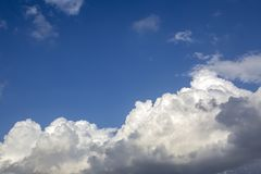 The vast blue sky and clouds sky.  royalty free stock images