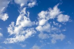 The vast blue sky and clouds sky.  stock photo