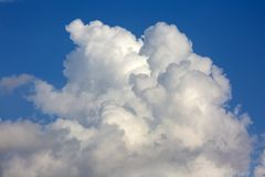 The vast blue sky and clouds sky.  royalty free stock image
