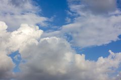 The vast blue sky and clouds sky.  royalty free stock photo