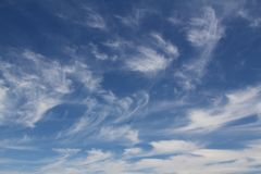 The vast blue sky and clouds sky. Blue sky background with tiny clouds. blue sky panorama. blue sky beautiful. blue sky and cloud wallpaper. blue sky and cloud royalty free stock photography