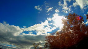 The vast blue sky and clouds sky. Sky clouds stock video footage