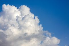 The vast blue sky and clouds sky.  royalty free stock photography