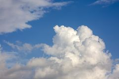 The vast blue sky and clouds sky.  stock photography