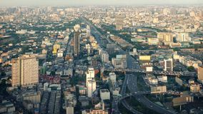 Vast Cityscape With Many Roads. Urban landscape with major highway and many main roads in the afternoon stock footage