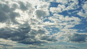 Vast Cloudscape WIth Clouds Approaching. Wide scenic view of clouds moving forwards stock video
