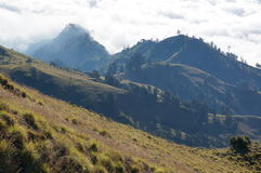Vast cloudy mountains. Vast cloudy mountain landscape scenery Stock Images