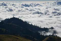 Vast cloudy mountains. Vast cloudy mountain landscape scenery Stock Photo