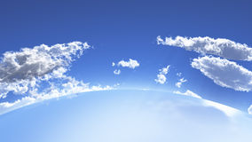 Vast curved horizon Stock Images