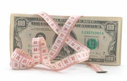 Vast in de begroting opnemend. Ontrafel band aan kant. royalty-vrije stock afbeeldingen
