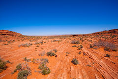 Vast desert near Colorado river canyons, USA Stock Photos