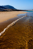 Vast empty beach, Sao Vicente Island Royalty Free Stock Photography