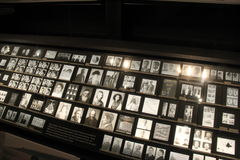 Vast exhibit of innocent victims of Nazi Reign during WWII, United States Holocaust Memorial Museum, Washington, DC, 2016 Royalty Free Stock Image