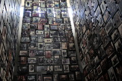 Vast exhibit of innocent victims of Nazi Reign during WWII, United States Holocaust Memorial Museum, Washington, DC, 2016 Royalty Free Stock Photos