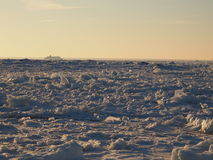 Vast fields of sea ice. Near Aegna island Stock Image