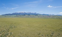 Vast Great Plains and Rocky Mountains stock photography