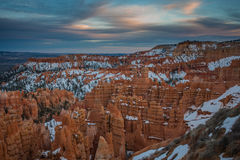 Vast Hoodoos in Bryce Canyon. As Sunset Begins Royalty Free Stock Images