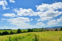 Vast landscape of Biei, Hokkaido. Royalty Free Stock Photos